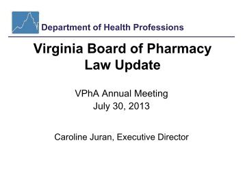 Virginia Department of Health Professions