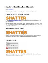 Shattered Text In Adobe Illustrator