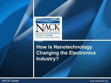 How is Nanotechnology Changing the ... - MATEC NetWorks