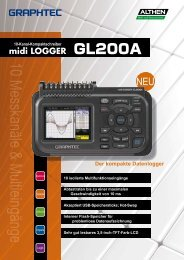 Datenblatt GL200A - Kompakter Datenlogger mit 10 Messkanälen