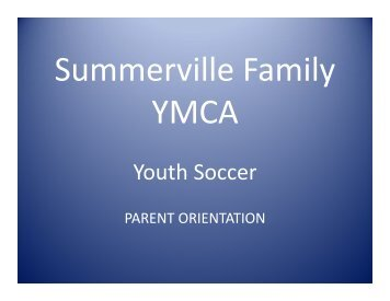 Youth Soccer Youth Soccer - Summerville Family YMCA
