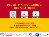 Prise en charge de l'arrêt cardiorespiratoire - Les Jeudis de l'Europe