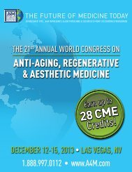 28 CME 28 CME - American Academy of Anti-Aging Medicine