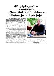 """AB ,,Lytagra"""" - vienintelis ,,New Holland"""" atstovas Lietuvoje ir Latvijoje"""