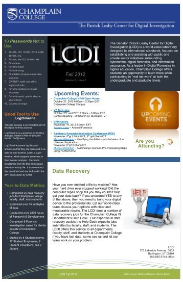 Data Recovery - Computer and Digital Forensics - Champlain College