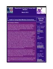 E-Newsletter - Department of Youth and Young Adult Ministry