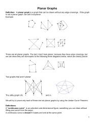 Notes on Planar Graphs and the Jordan Curve Theorem