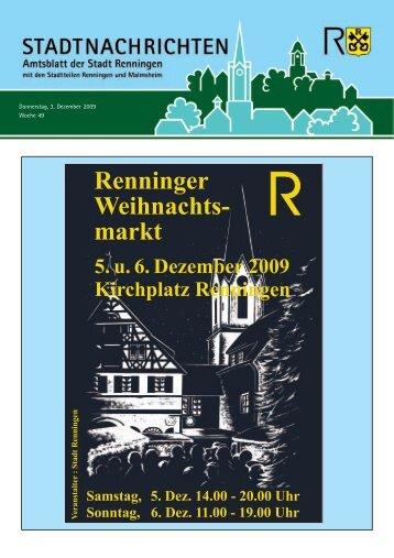 Ausgabe Nr. 49 vom 03.12.2009 - Stadt Renningen
