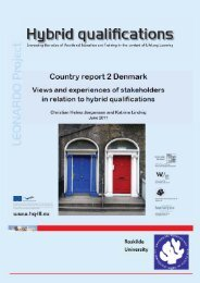 Country report - Denmark - Hybrid Qualifications