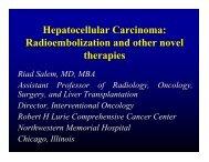Radioembolization and other novel therapies - SIR Foundation