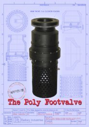Rodneys Poly Footvalve Brochure