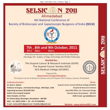 7th , 8th and 9th October, 2011 - Selsi