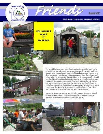 Q213 Summer Newsletter - Friends of MI Animals Rescue