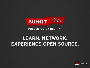 Build a PaaS using Open Source Software - Red Hat Summit