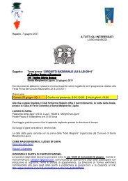 CIRCUITO NAZIONALE LUI & LEI 20 - Associazione Italiana Master ...