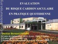 Pierre B. Évaluation du risque cardiovasculaire en pratique ...