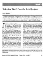 """""""Follow Your Bliss"""": A Process for Career Happiness"""