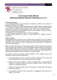 Curriculum AST 2013 - Associazione Sclerosi Tuberosa
