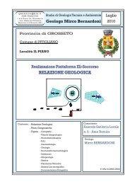 Relazione Geologica - Comune di Pitigliano
