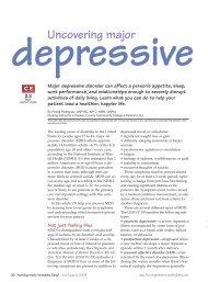 Uncovering major depressive disorder - Nursing Center