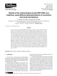 Results of the meteorological model WRF-ARW over ... - Tethys