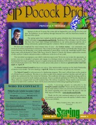 WHO TO CONTACT - Dufferin-Peel Catholic District School Board