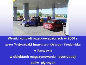 Podstawowe wymagania ochrony środowiska na stacjach paliw
