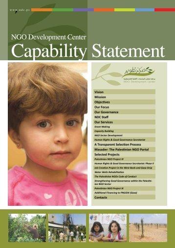 Capability Statement - NDC