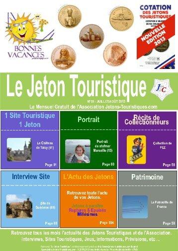 Le Jeton Touristique N°59 - Jetons touristiques de la Monnaie de Paris