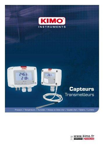 Capteurs - transmetteurs - Kimo