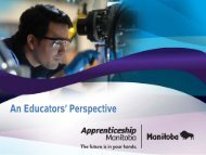 An Educators' Perspective - Government of Manitoba
