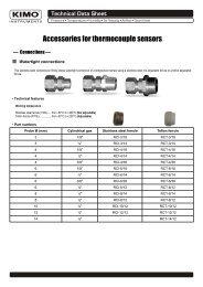Accessories for thermocouple sensors - Kimo