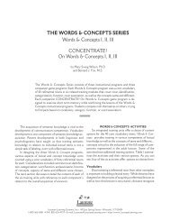 On Words & Concepts - Laureate Learning Systems