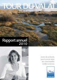 Rapport annuel 2010 - Tour du Valat