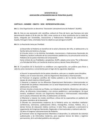 Estatutos de ALAPE.