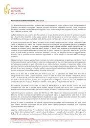 Nuovi programmi di storia e didattica - Fondazione Bergamo nella ...