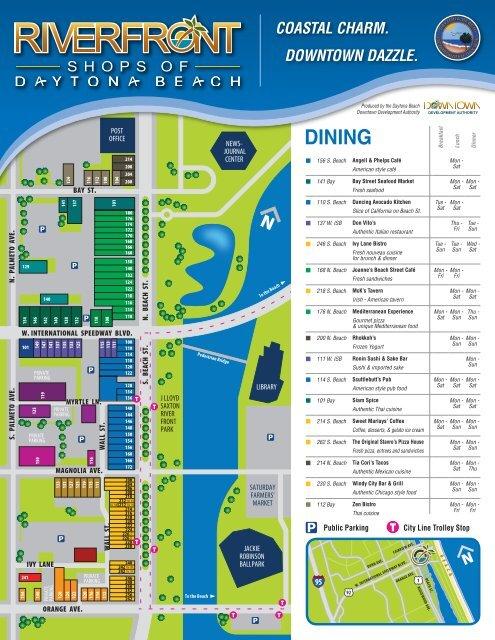 Download a map - Riverfront Shops of Daytona Beach on