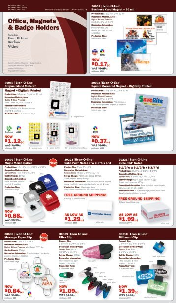 Office, Magnets & Badge Holders - Norwood Promotional Products