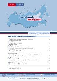 russland- analysen