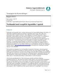 2012-1 Netthandel med reseptfrie legemidler i apotek