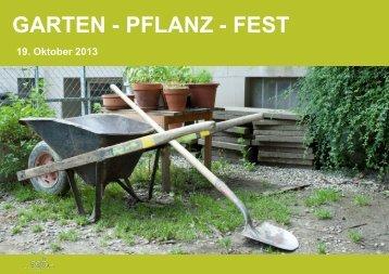 GARTEN - PFLANZ - FEST - SGF Bern