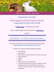 Easter Egg Hunt & Easter Bonnet Parade - Bayside Family Day Care