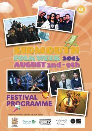 to download the Festival Programme 2013 - Sidmouth Folk week