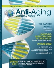 SPRING 2011 - American Academy of Anti-Aging Medicine