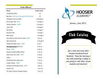 Club Catalog - Inside Hoosier Academies