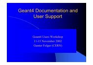 Geant4 Documentation and User Support - CERN