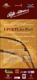 I POETI dei Poeti - Romagna d'Este