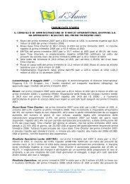 Comunicato Stampa - Investor Relations - Tanker