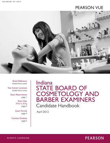 a description of indiana to vote on eliminating cosmetology and barbering licenses Pearson vue provides licensure tests for massachusetts cosmetology and barbering the cosmetology profession includes hairdressers, manicurists and aestheticians, who provide a variety of services including haircutting, hairstyling, manicuring, and aesthetics.