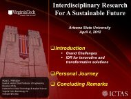 Interdisciplinary Research For A Sustainable Future - Institute for ...